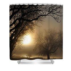 Foggy Morn Shower Curtain