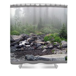 Shower Curtain featuring the photograph Foggy Morning At Paradise by Charles Robinson