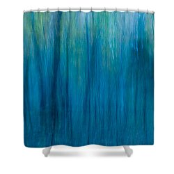 Foggy Morning Blues Shower Curtain by Paul W Faust -  Impressions of Light