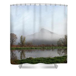 Foggy Morning Bluff Shower Curtain