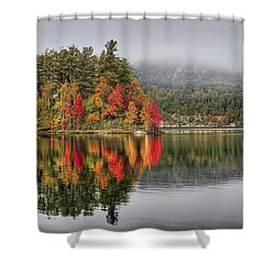 Foggy Morning Shower Curtain by Evelina Kremsdorf