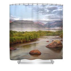 Foggy Morning In Moraine Park Shower Curtain by Ronda Kimbrow