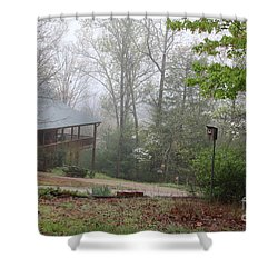 Foggy Morning In The Mountains Shower Curtain