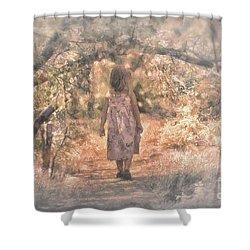 Foggy Morning Light Shower Curtain by Mary Lou Chmura