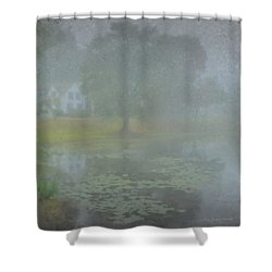 Foggy Morning On Pond Street Shower Curtain