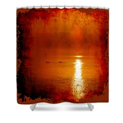 Foggy Morning On The River Shower Curtain