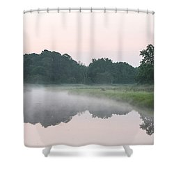 Foggy Morning Reflections Shower Curtain