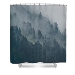 Foggy Mountain Ridge Shower Curtain by Eric Tressler