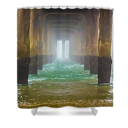 Shower Curtain featuring the photograph Coastal Fog by April Reppucci