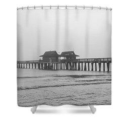 Foggy Pier Shower Curtain by Sean Allen