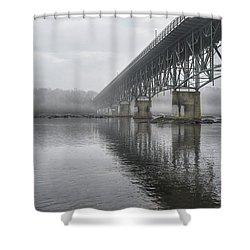 Foggy Reflection Shower Curtain
