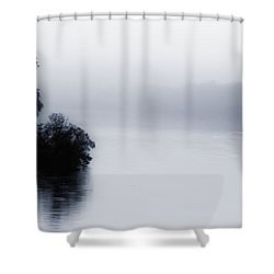 Foggy River Shower Curtain by Bill Cannon