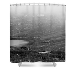 Foggy Scottish Morning Shower Curtain