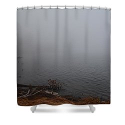 Foggy Shore Shower Curtain