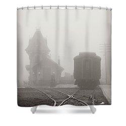 Foggy Station Shower Curtain