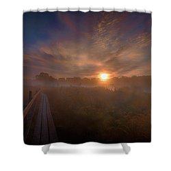 Foggy Sun #g6 Shower Curtain