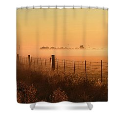Foggy Sunrise On Hawkins Rd Shower Curtain