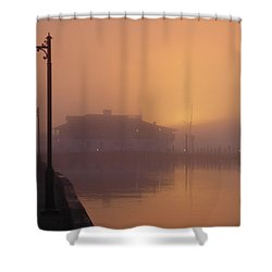 Foggy Sunrise Shower Curtain