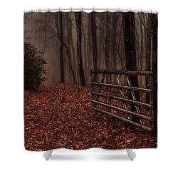 Foggy Trail Shower Curtain