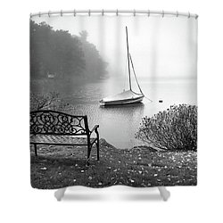 Shower Curtain featuring the photograph Foggy Tranquility by Betsy Zimmerli