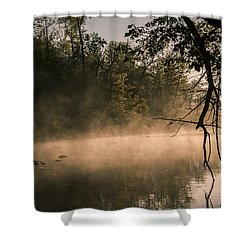 Foggy Water Shower Curtain by Annette Berglund
