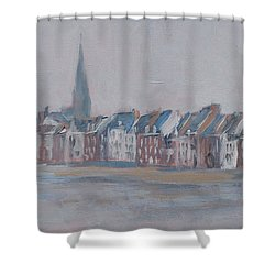 Foggy Wyck Shower Curtain