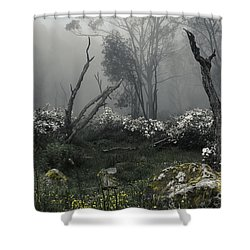 Fogscape Shower Curtain by Andrew Paranavitana