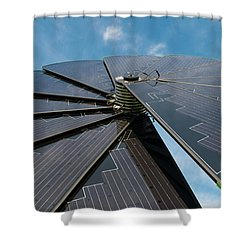 Foldable Solar Collector Shower Curtain
