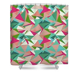 Folded Geometric Shower Curtain