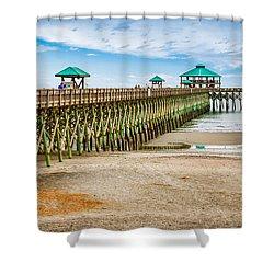 Foley Beach Pier Shower Curtain