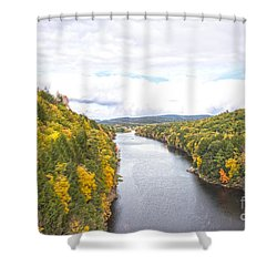 Foliage Clouds Shower Curtain
