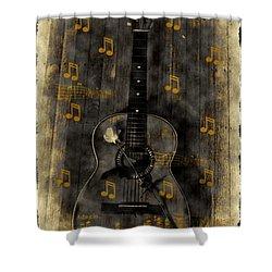 Folk Guitar Shower Curtain by Bill Cannon
