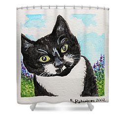 Follow Me Into The Garden Shower Curtain by Elizabeth Robinette Tyndall