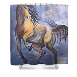 Shower Curtain featuring the painting Follow Me by Laurianna Taylor