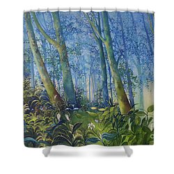 Follow Me Oil Painting Of A Magic Forest Shower Curtain