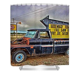 Follow Me To Luckenbach Shower Curtain