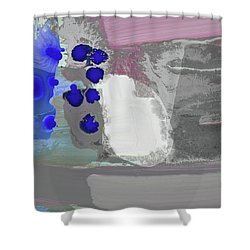 Follow The Blue Steps And Fly Free Shower Curtain by Amara Dacer