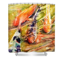 Follow The Leader Shower Curtain by Judith Levins