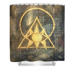 Follow The Light - Illuminati And Binary Shower Curtain