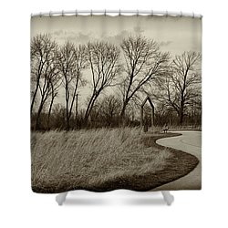 Follow The Path Shower Curtain by Elvira Butler