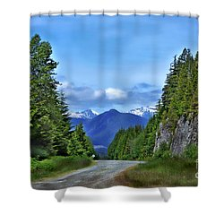 Follow The Road Shower Curtain