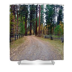 Follow The Road Less Traveled Shower Curtain by Jennifer Lake