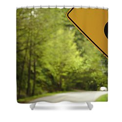 Shower Curtain featuring the photograph Follow The Sign by Cendrine Marrouat