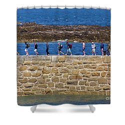 Shower Curtain featuring the photograph Follow The Yellow Brick Road by Terri Waters
