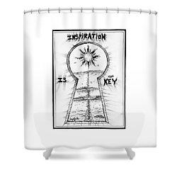 Follow Your Inspiration  Shower Curtain
