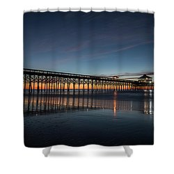 Folly Beach Pier Before Sunrise Shower Curtain