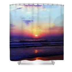 Folly Beach South Carolina Sunrise Shower Curtain