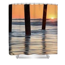 Folly Beach Sunrise Charleston South Carolina Shower Curtain by Mark VanDyke