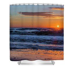 Folly Beach Sunrise Shower Curtain