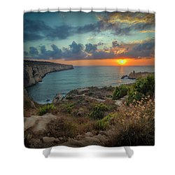 Fomm Ir-rih  Wind's Mouth  Shower Curtain